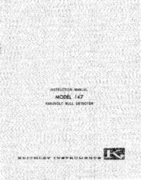 Servizio e manuale utente Keithley 147