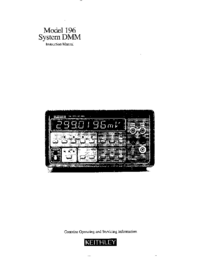 Serwis i User Manual Keithley 196