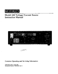 Servicio y Manual del usuario Keithley 228