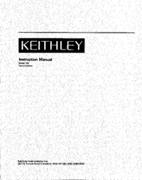 Serwis i User Manual Keithley 148