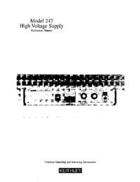Serwis i User Manual Keithley 247