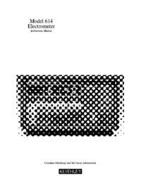 Manual do Usuário Keithley 614