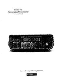 Service- und Bedienungsanleitung Keithley 485