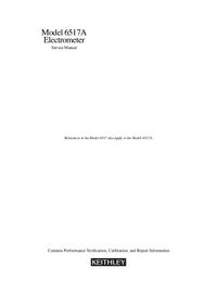 Manuale di servizio Keithley 6517