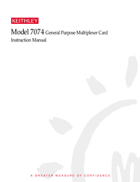 Servicio y Manual del usuario Keithley 7074
