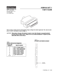 User Manual Keithley 4500-ILK-KIT-1