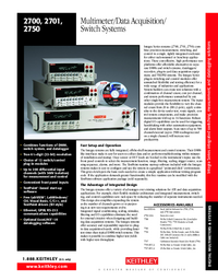 Datenblatt Keithley 2700