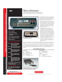 Datenblatt Keithley 580