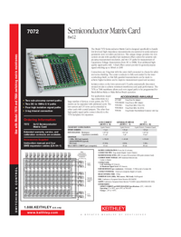 Datenblatt Keithley 7072