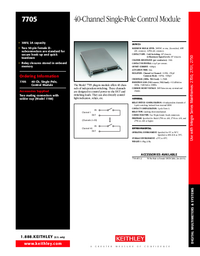 Datenblatt Keithley 7705