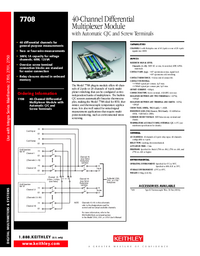 Datenblatt Keithley 7708