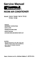 Service Manual Kenmore 79053