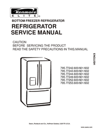 Service Manual Kenmore 795.77252.600/601/602