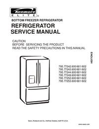 manuel de réparation Kenmore 795.77244.600/601/602