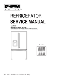 Service Manual Kenmore 795.77563600