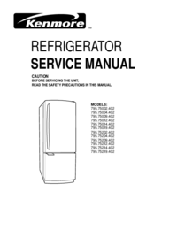 Service Manual Kenmore 795.75012.402