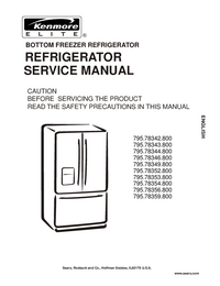 Service Manual Kenmore 795.78346.800