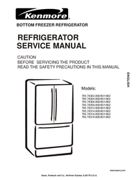 Service Manual Kenmore 795.78312.800/801/802