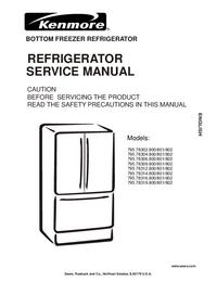 Manual de servicio Kenmore 795.78312.800/801/802