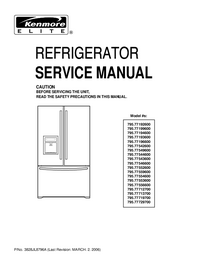 Service Manual Kenmore 795.77552600