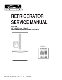 Service Manual Kenmore 795.78762800