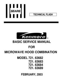 Service Manual Kenmore 721. 63689