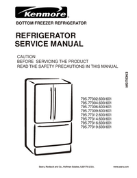 Service Manual Kenmore 795.77312.600/601
