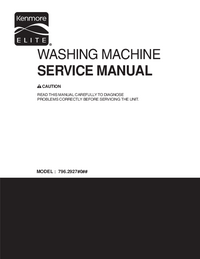 Manual de serviço Kenmore 796.2927#0##