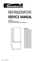 Manual de servicio Kenmore MODELS: