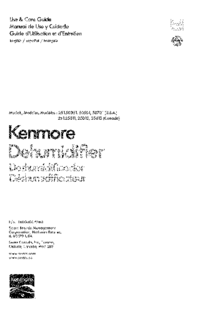 User Manual Kenmore 251.25011