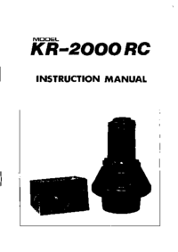Manual de servicio, diagrama cirquit sólo Kenpro KR-2000 RC