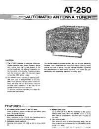 User Manual Kenwood AT-250