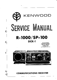 Manual de servicio Kenwood SP-100