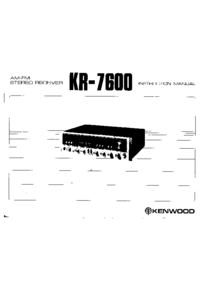 Manual del usuario Kenwood KR-7600
