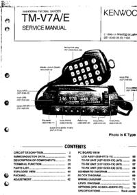 Manual de servicio Kenwood TM-V7A
