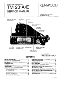 Service Manual Kenwood TM-231A