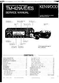 Руководство по техническому обслуживанию Kenwood TM-421A