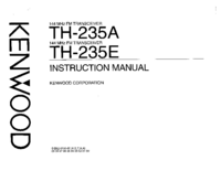 Serwis i User Manual Kenwood TH-235A