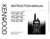 Service and User Manual Kenwood TH-G71E