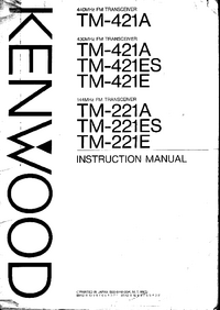 Manuale d'uso Kenwood TM-221E