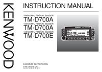 Gebruikershandleiding Kenwood TM-D700E