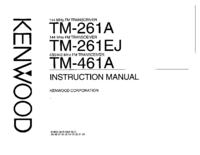 User Manual Kenwood TM-261EJ