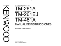 Manual del usuario Kenwood TM-261A