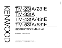 User Manual Kenwood TM-431E