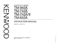 User Manual Kenwood TM-742E