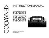 Manual do Usuário Kenwood TM-G707A