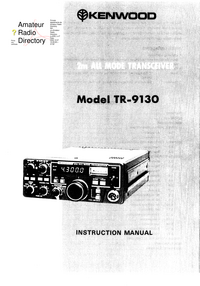 Service and User Manual Kenwood TR-9130