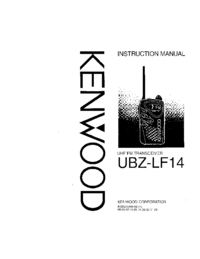 Service Manual Kenwood UBZ-LF-14