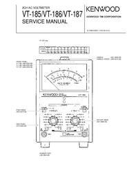 Service Manual Kenwood VT-186