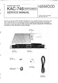 Manuale di servizio Supplemento Kenwood KAC-746